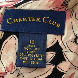 Charter Club Tops - Charter Club Lined Silk Tank